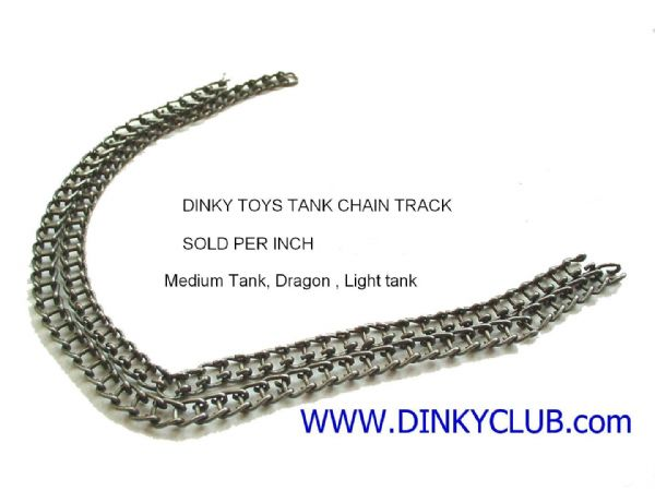 Dinky Toys 152A Light Tank chain track [Price Per Inch]